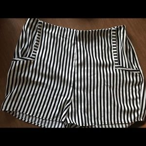Black and white striped shorts from Nordstrom